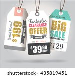 sale tags with gold glitter... | Shutterstock .eps vector #435819451