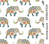 seamless pattern of colorful... | Shutterstock .eps vector #435819529