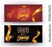 grand opening horizontal... | Shutterstock .eps vector #435819601