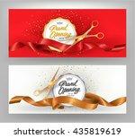 grand opening elegant banners... | Shutterstock .eps vector #435819619