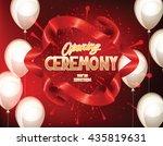 grand opening elegant banner...   Shutterstock .eps vector #435819631