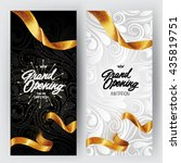 grand opening card with gold... | Shutterstock .eps vector #435819751