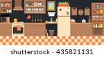 lovely kitchen  vector... | Shutterstock .eps vector #435821131