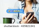 phone with emoji   Shutterstock . vector #435821341