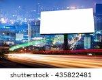 double exposure of blank... | Shutterstock . vector #435822481