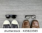 different style of men fashion  ... | Shutterstock . vector #435823585