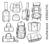 travel bags. a collection of... | Shutterstock .eps vector #435826741