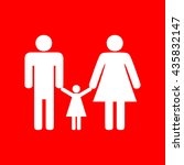 man  woman and kid sign   Shutterstock .eps vector #435832147