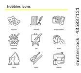hobbies vector icons set ... | Shutterstock .eps vector #435837121