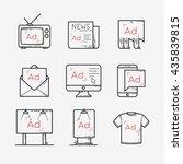 advertisement icons set   Shutterstock .eps vector #435839815