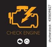 check engine icon  symbol | Shutterstock .eps vector #435839827