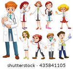 doctors and scientists in white ... | Shutterstock .eps vector #435841105