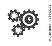 mechanism icon. flat vector... | Shutterstock .eps vector #435843271