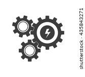 mechanism icon. flat vector... | Shutterstock .eps vector #435843271