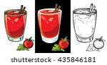 set of bloody mary cocktails ...   Shutterstock .eps vector #435846181