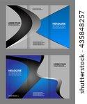 brochure design template... | Shutterstock .eps vector #435848257