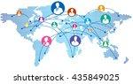 social network vector  | Shutterstock .eps vector #435849025