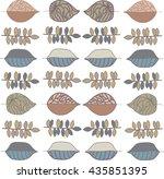 decorative leaves   Shutterstock .eps vector #435851395