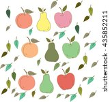 fruits and leaves | Shutterstock .eps vector #435852211