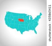 map of nebraska | Shutterstock .eps vector #435865411