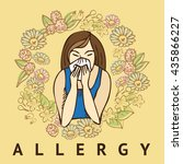 allergies. hay fever | Shutterstock .eps vector #435866227