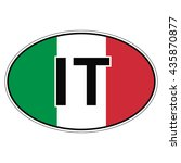 sticker on car  flag of italy ...