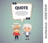 quote speech banner with flat... | Shutterstock .eps vector #435874549