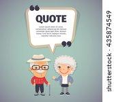 quote speech banner with flat... | Shutterstock .eps vector #435874549