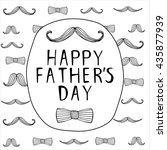 happy fathers day background... | Shutterstock .eps vector #435877939