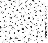 black and white minimal... | Shutterstock .eps vector #435878827