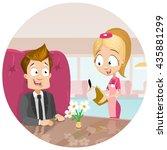 vector cartoon illustration of... | Shutterstock .eps vector #435881299