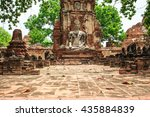 old buddha thailand southeast... | Shutterstock . vector #435884839