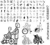 medical set of black sketch.... | Shutterstock .eps vector #43588897