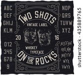 two shots on the rocks whiskey... | Shutterstock .eps vector #435889765