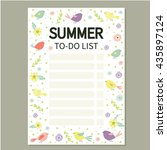Summer To Do List. Cute Page...