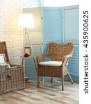 Wicker Furniture In Room Desig...