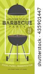 lovely vector barbecue party... | Shutterstock .eps vector #435901447