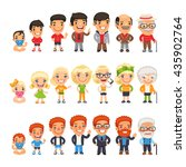 three characters generations at ... | Shutterstock .eps vector #435902764