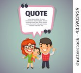 quote speech banner with flat... | Shutterstock .eps vector #435902929
