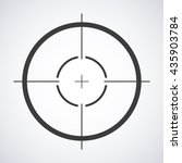 target icon  sight sniper... | Shutterstock .eps vector #435903784