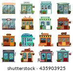 stores and shops exterior... | Shutterstock .eps vector #435903925