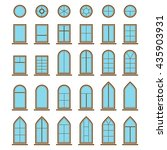 set of different icons window... | Shutterstock .eps vector #435903931