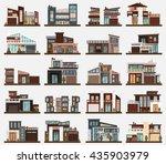 modern houses or buildings ... | Shutterstock .eps vector #435903979