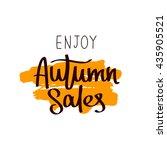 enjoy autumn sale. the trend... | Shutterstock .eps vector #435905521