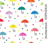Watercolor Umbrellas Seamless...