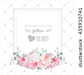 Square Floral Vector Design...