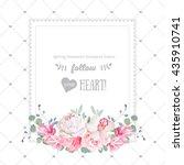 square floral vector design... | Shutterstock .eps vector #435910741