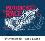 motorcycle race. hand drawn... | Shutterstock .eps vector #435912355