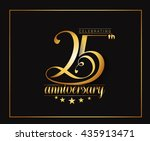 25th years anniversary... | Shutterstock .eps vector #435913471