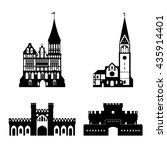 vector silhouette of... | Shutterstock .eps vector #435914401